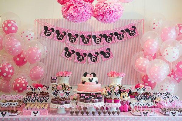 Festa Infantil: Tema Minnie - Ideias em Casa                                                                                                                                                      Mais