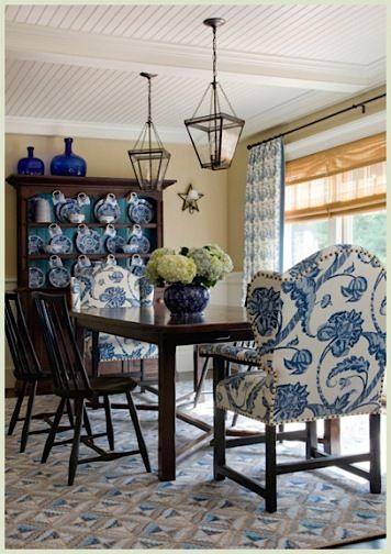 591 best blue cobalt interiors images on pinterest for White formal dining room