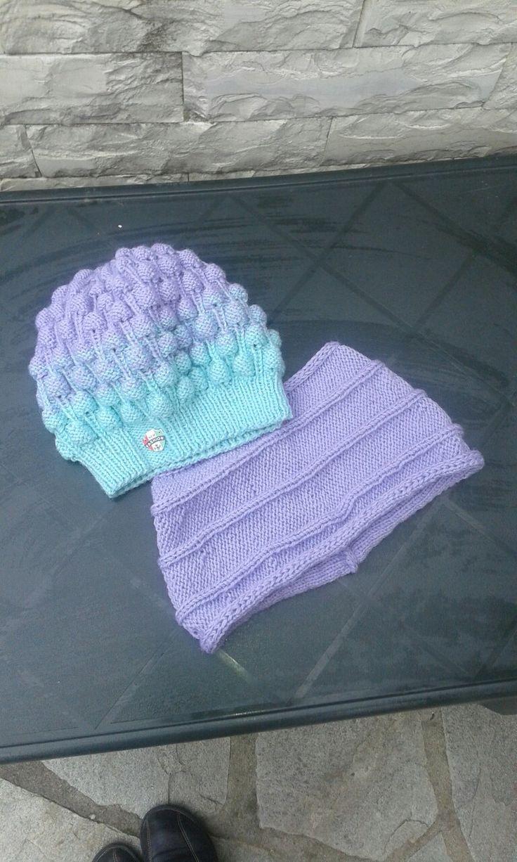 Knitted set degrade.