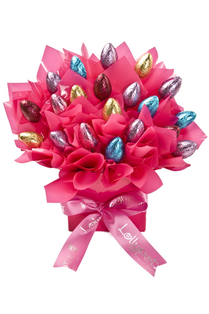 Chocolate Easter Gift Basket - Bright Easter Pot.