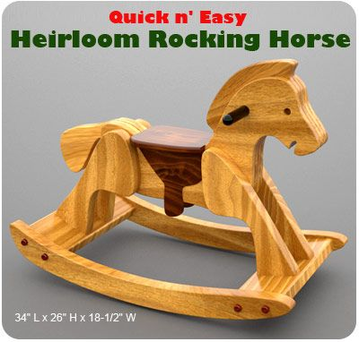 Quick n' Easy Heirloom Rocking Horse Wood Toy Plan Set. Love to make this one day.