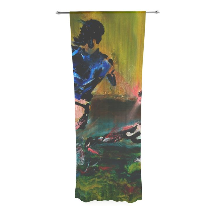 "Josh Serafin ""Slidetackle"" Soccer Decorative Sheer Curtain"