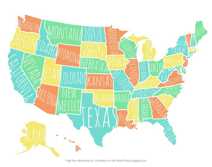 The Best Usa States Names Ideas On Pinterest States In - Us map with states name