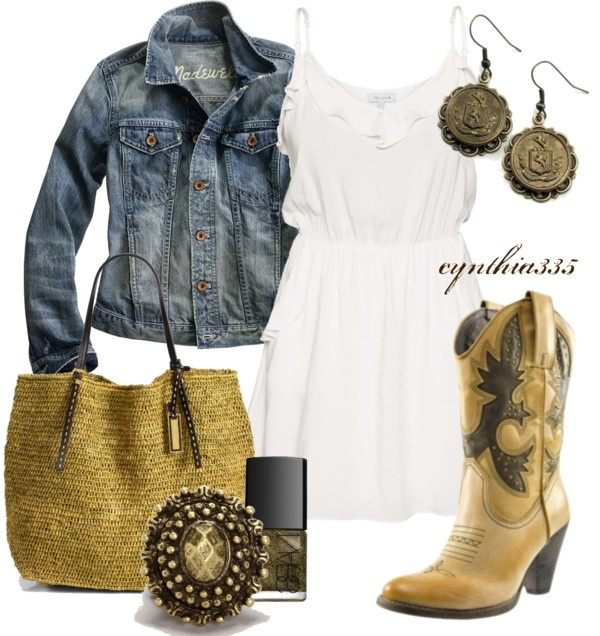 """Spring Cowgirl"" by cynthia335 ❤ liked on Polyvore"
