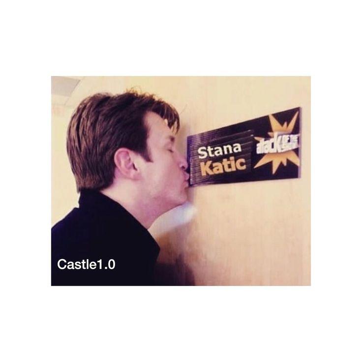 Cute #castle @natefillion #drstanakatic @drstanakatic ❤️❤️❤️