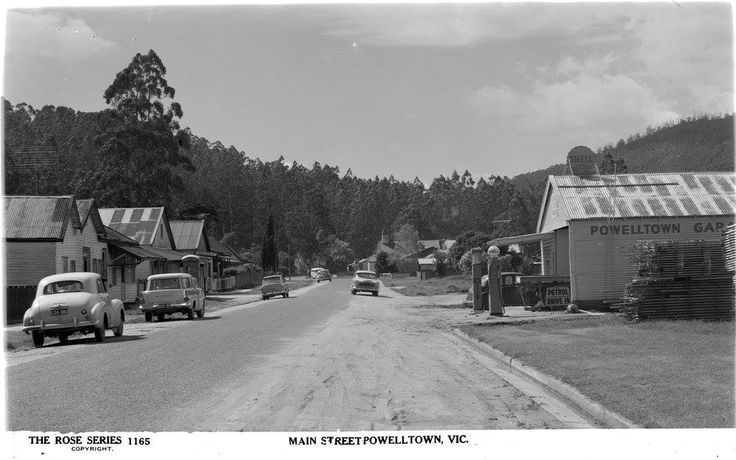Powelltown as it looked in the early 1960s