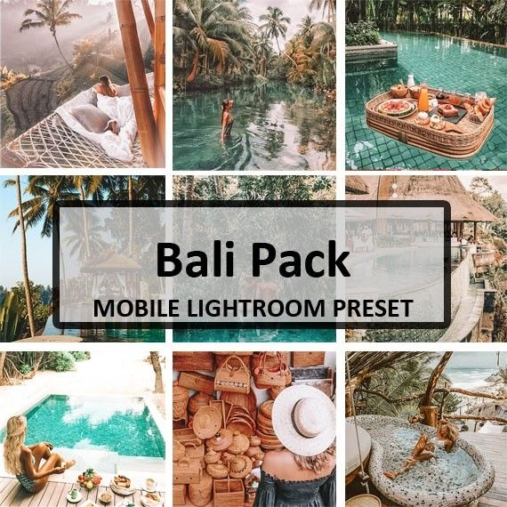 Bali Preset Pack (Mobile) | Lightroom Presets | Lightroom