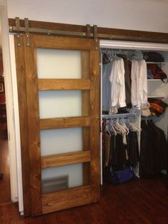Bypass Panel Glass Door for Closet in a Victorian Home Downtown Toronto - http://1925workbench.com/blog/?p=1233