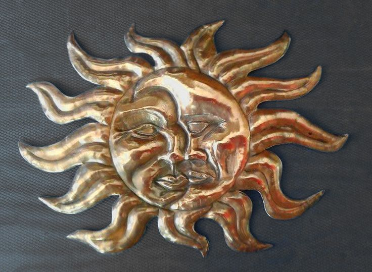 The Sun and Moon in copper