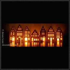 3 Paper Lantern Craft Houses Free Templates Download