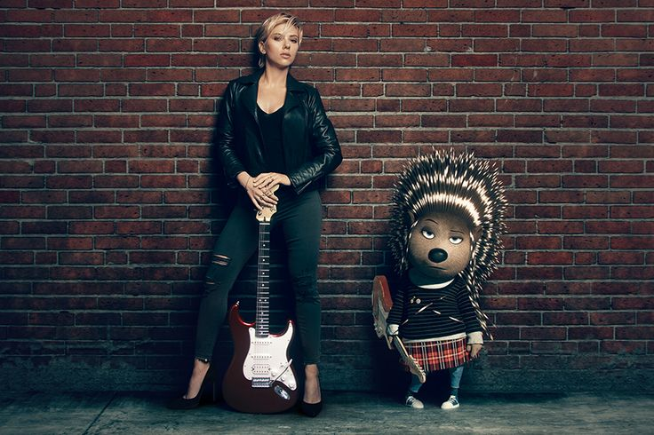 Scarlett Johansson and her character, Ash, are ready to rock. SING is in theaters December 21.