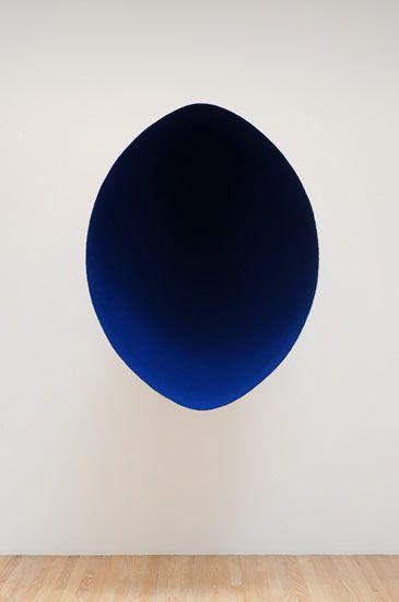 ken price, zia, sculpture - Anish Capoor Void (#15), 1992 fiberglass and pigment 50 x 38 x 36 in. (127 x 96.5 x 91.4 cm) Private collection