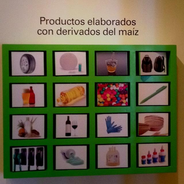 Productos elaborados con maíz.