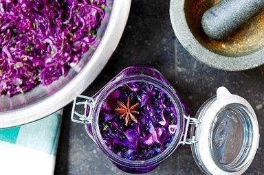 recept fermenteren van rode kool
