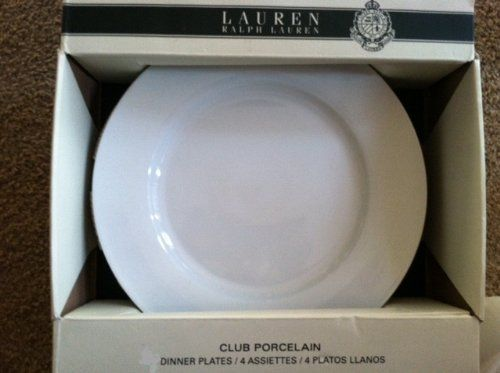 "Lauren Ralph Lauren ""Club Porcelain"" Dinner Plates - Set of 4 - White by Ralph Lauren. Save 38 Off!. $49.99"
