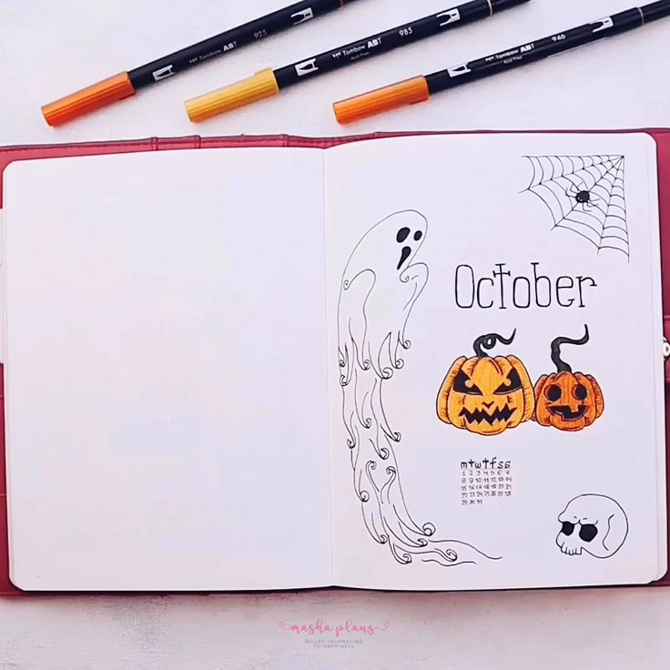 Halloween Bullet Journal Setup | October PWM