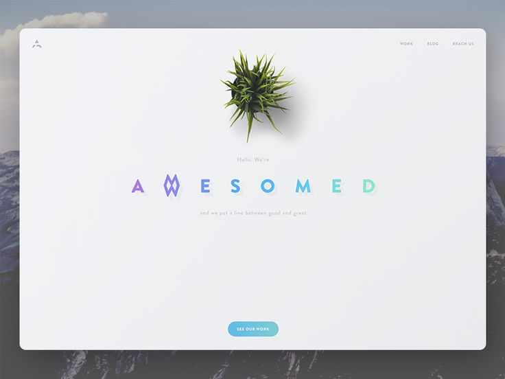 """Awesomed"" design studio website by George  Vasyagin for Awesomed"