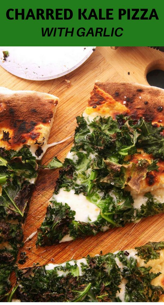 If you've ever had kale chips, you know how sweet and crispy the brassica gets when exposed to high heat. Baked kale is tasty on its own, but it's even better on a pizza with nutty Gruyère and stretchy mozzarella. Par-cooking the dough is a must, or else the kale will be burnt before the crust is done.