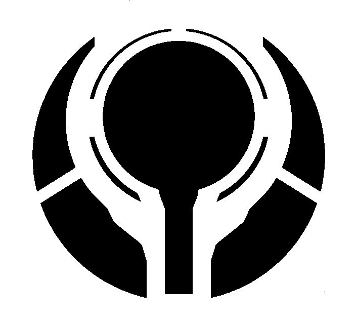 This is one of the emblems I used for the coasters - Halo Covenant Symbol Halo 4 edit