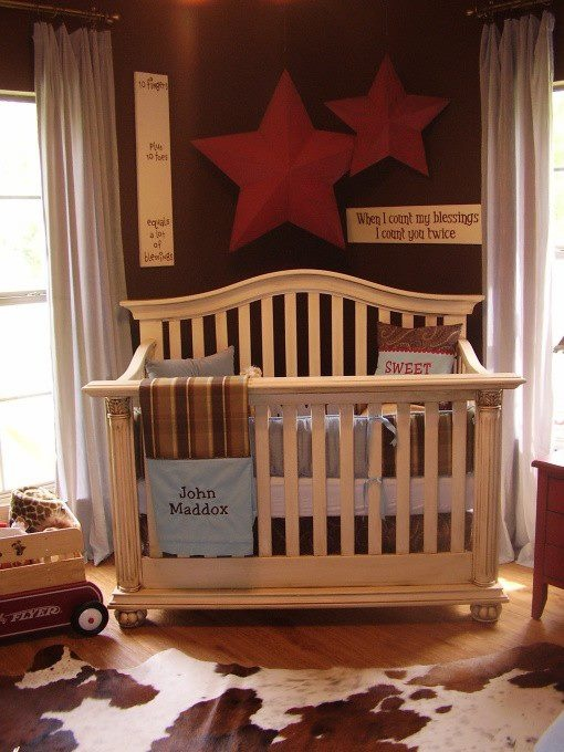 Rustic Western Baby Room There Is The Cow Hide Rug