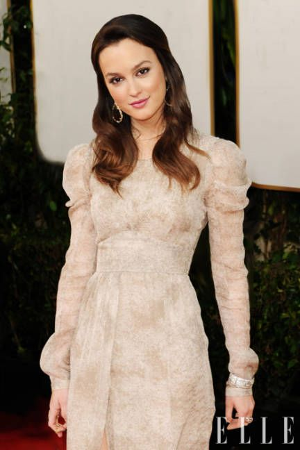 Leighton  Meester glows in white lace. She features on Elle's Beautiful People: America the Beautiful list.