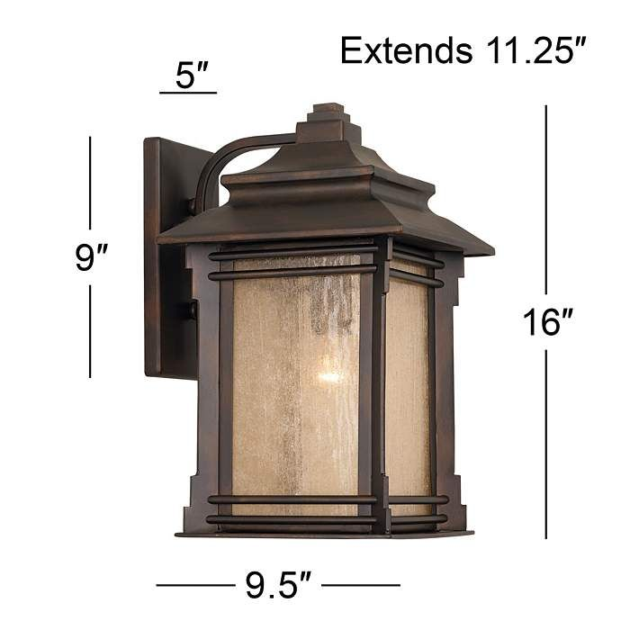 Hickory Point 16 High Bronze Outdoor Wall Light 09569 Lamps Plus Outdoor Wall Light Fixtures Exterior Light Fixtures Outdoor Wall Lighting