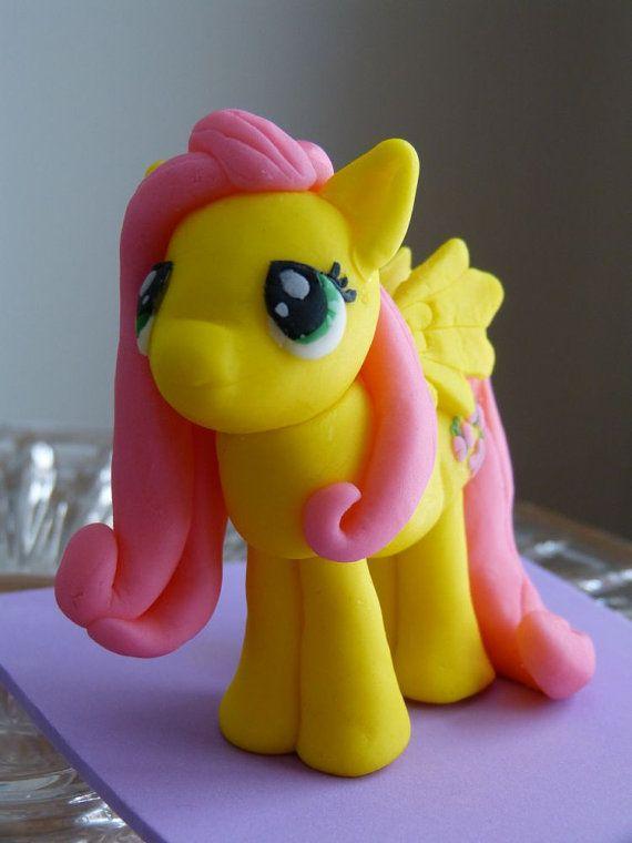 My Little Pony Cake Topper  Fluttershy by ArtCreationsbyLK on Etsy, $15.00
