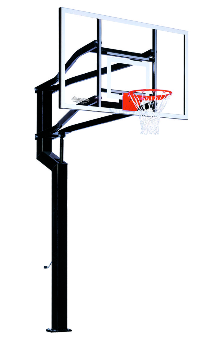 The Mvp In Ground Basketball System Features A Regulation Basketball Hoop With 72 X 42