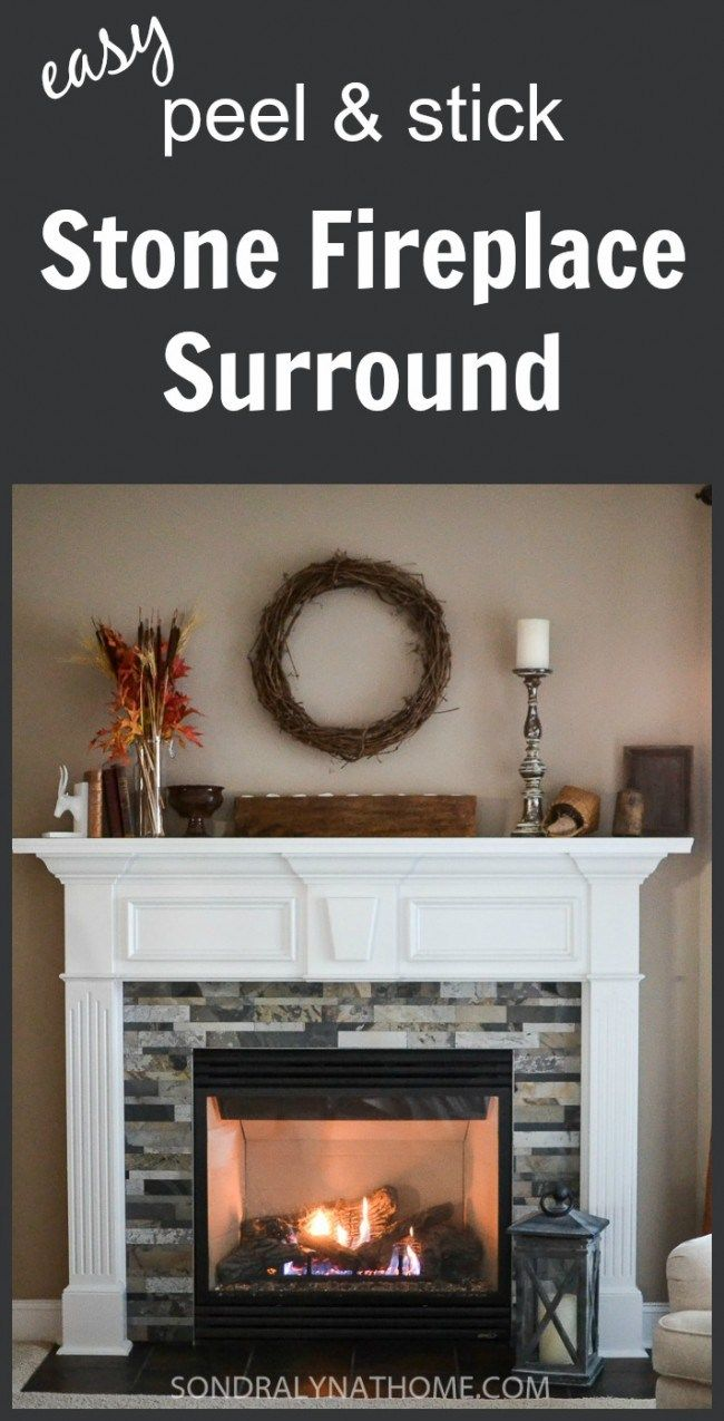 Easy Peel and Stick Stone Fireplace Surround | Stone