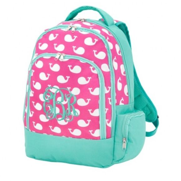 PINK BOOKBAG Thirty one inspired/Simply Southern Inspired/Lilly Pulitzer Inspired Bags Backpacks