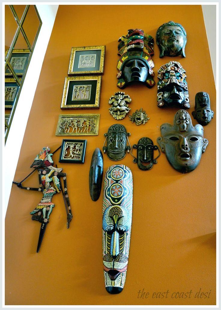the east coast desi - Masks on the entrywall/hallway