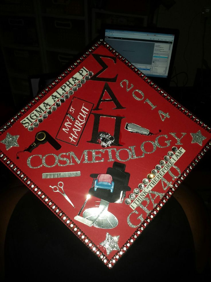 Graduation Cap Cosmetology 2014 High Honor S Graduate