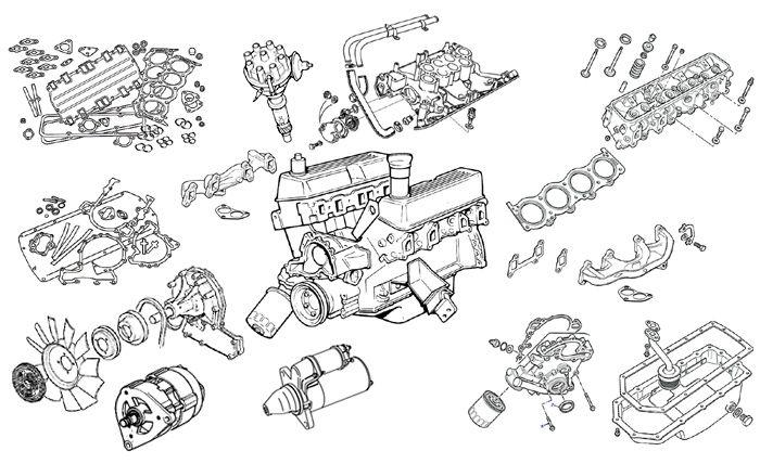 land rover defender engine parts