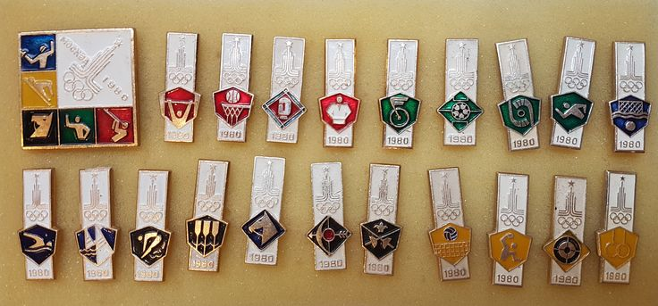 Olympic Games 80 Moscow Pin Badges Full Set All 21pcs USSR 1980 by Olympiad80 on Etsy