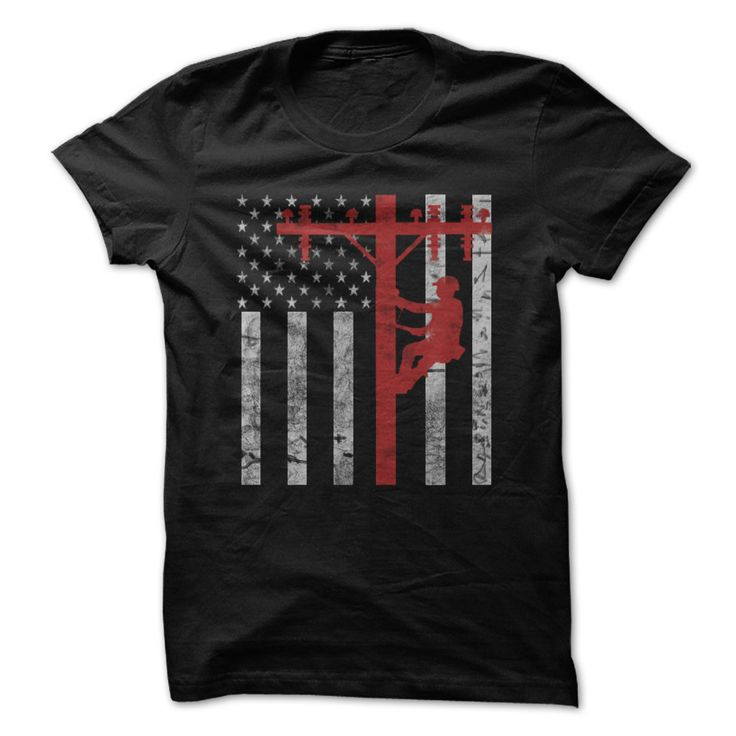 American Lineman T-Shirts, Hoodies. VIEW DETAIL ==► https://www.sunfrog.com/Jobs/American-Lineman.html?id=41382