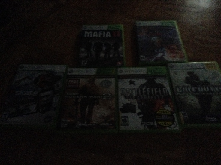 Best games.1 mafia2.2.devil may cry4.3.skate3.4.call of duty modern warfare 2.5.call of duty modern warfare1.6.battlefield bad company2.               Best games for Xbox 360