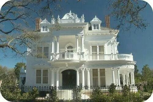 Gorgeous All White Victorian Dream House Bebe Love The Gingerbread Trim And Wrap Around Porches Balconies Homes Home Plans Pinterest
