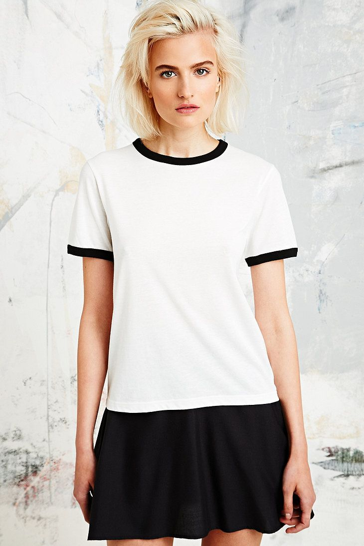 Black t shirt urban outfitters - Ringer T Shirt Urbanoutfitters