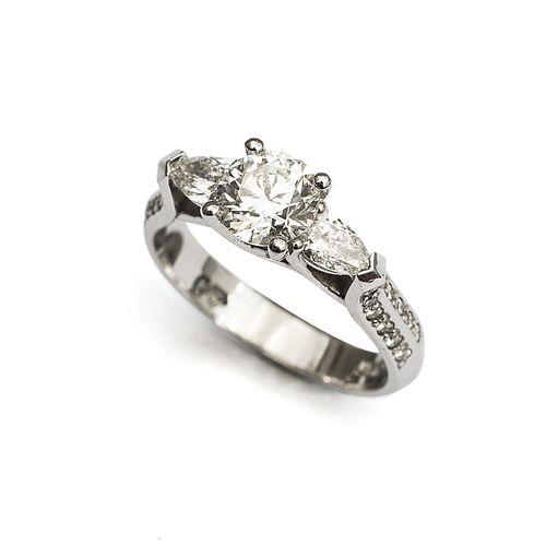 Platinum 3 Stone Engagement Ring
