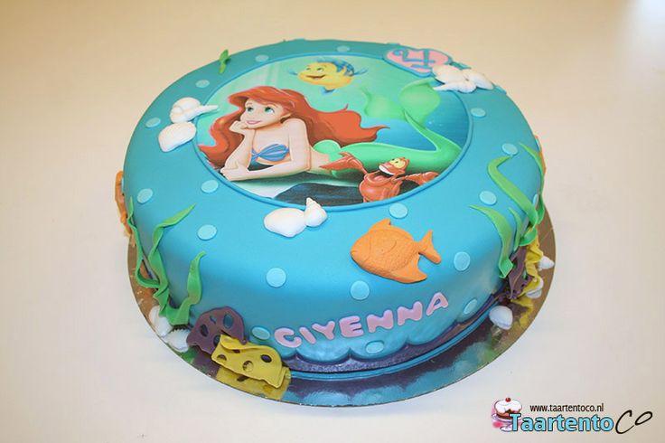 Kleine zeemeermin Ariel Taart  *Little Mermaid Ariel Cake