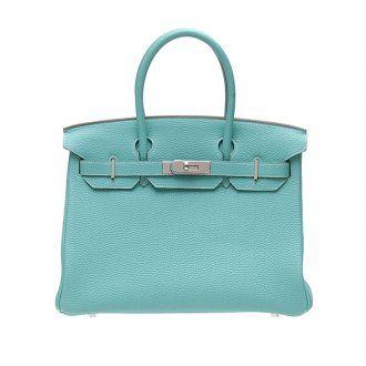 Hermes Birkin Bag 25 Lagon/Lagoon Blue Togo Leather Silver Hardw