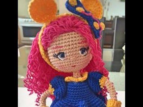 Como bordar ojos muñeca Valentina amigurumi By Petus (6/7) SEXTA PARTE - YouTube