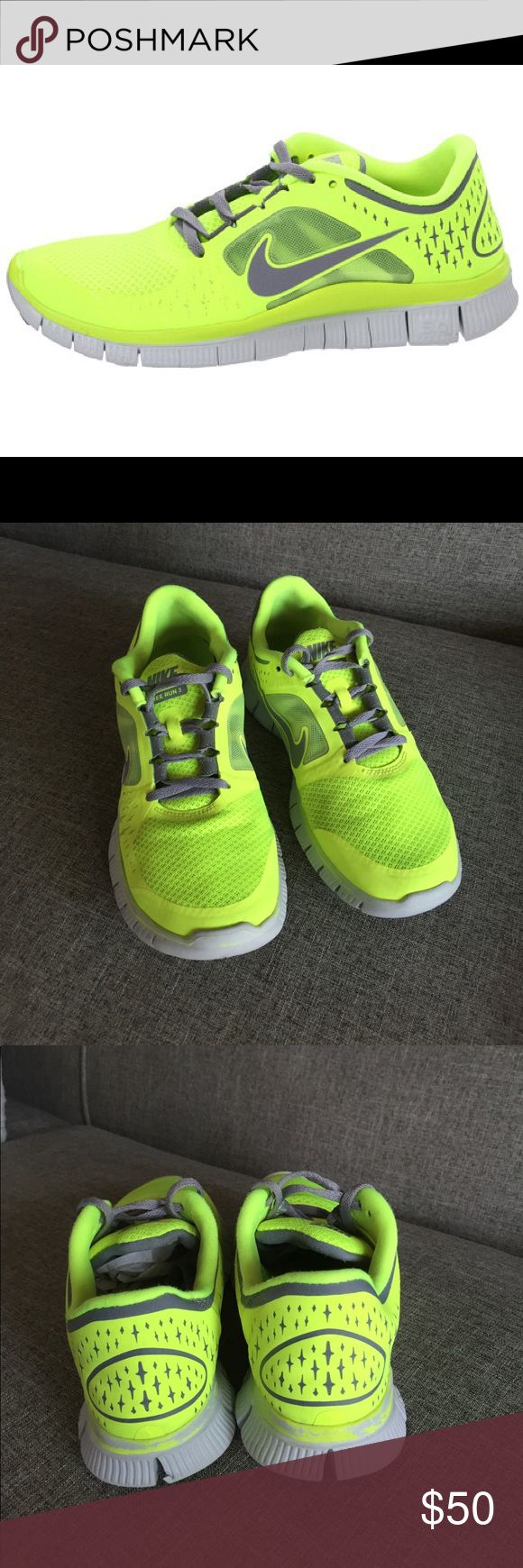 Nike Free Run 3💥 Nike Free Run 3 , neon , used a lot but still in great condition💥size 9💥 Nike Shoes Athletic Shoes