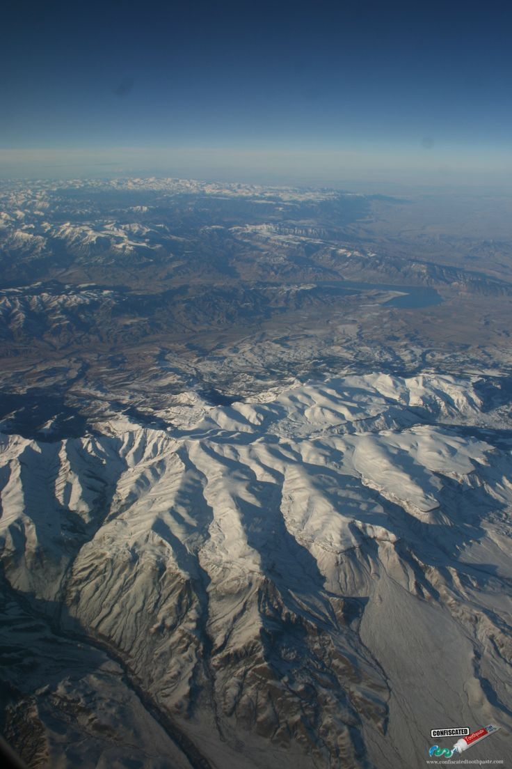 "Above the USA's Rocky Mountains. ""The Truth about Flying"": http://www.confiscatedtoothpaste.com/the-truth-about-flying/"