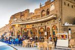 Erbil,Iraq - May 22, 2015 :historical old coffeeshop in Iraq with arabic label referring to its built date( 1940) located in the city center near the Citadel of Erbil