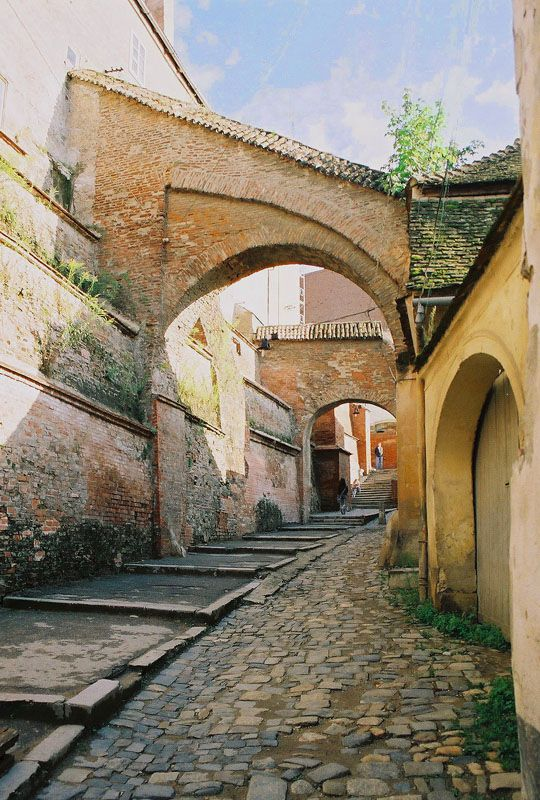 Sibiu, Romania. Medieval passage! Www.romaniasfriends.com