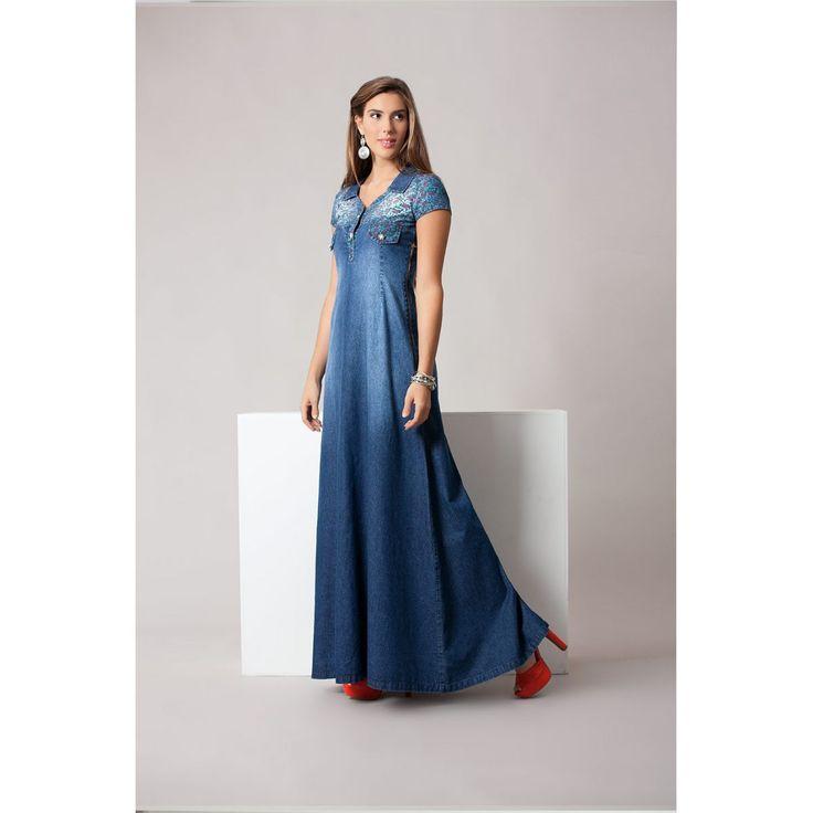 Os melhores preços de Vestido Longo Jeans Raje é aqui na, Saia Bella - Sua Moda Evangélica