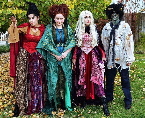 Hocus Pocus Sanderson Sisters Billy Butcherson Halloween Costumes