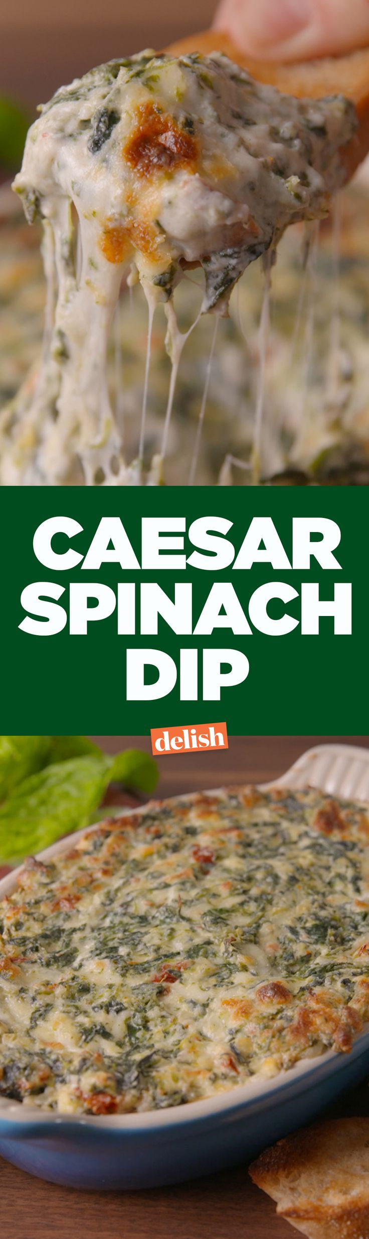 Caesar Spinach Dip will bring all your friends to the yard. Get the recipe on Delish.com.
