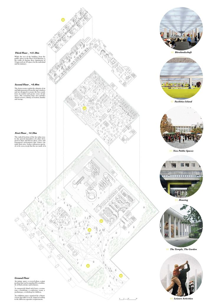Architecture Drawing Posters 216 best exploded axonometric -architectural drawing images on
